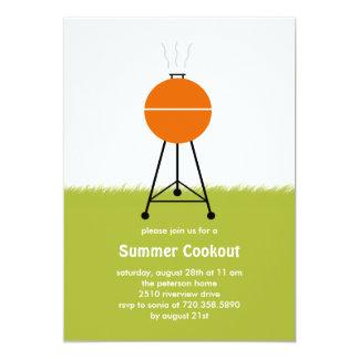 Invitation de partie de barbecue de BBQ d'été