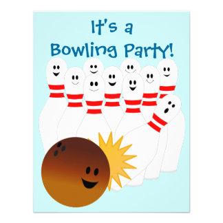 Invitation de partie de bowling