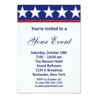 Invitation de partie de campagne ou 4 juillet carton d'invitation  12,7 cm x 17,78 cm