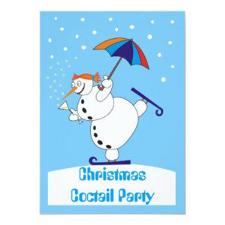 Invitation de partie de Coctail de Noël