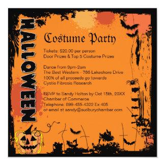 Invitation de partie de costume de Halloween