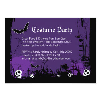 Invitation de partie de costume de Halloween