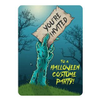 Invitation de partie de costume de Halloween de