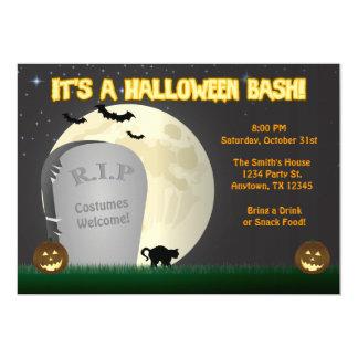 Invitation de partie de coup de Halloween