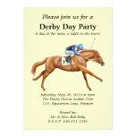 Invitation de partie de course de chevaux