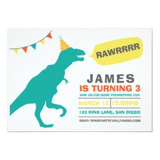 invitation de partie de dinosaure