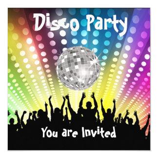 Invitation de partie de disco toute célébration