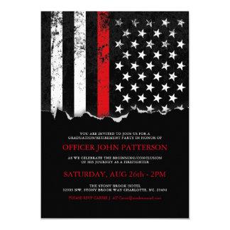 Invitation de partie de drapeau américain de style