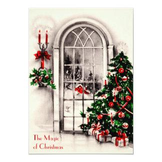 Invitation de partie de fenêtre de Noël Carton D'invitation 12,7 Cm X 17,78 Cm