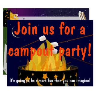Invitation de partie de feu de camp