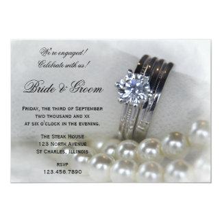 Invitation de partie de fiançailles de diamant et