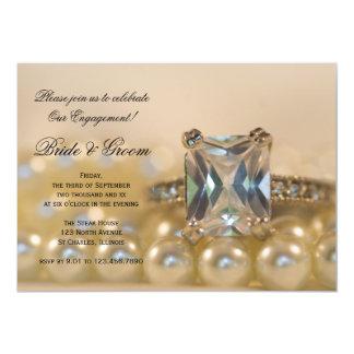 Invitation de partie de fiançailles de princesse