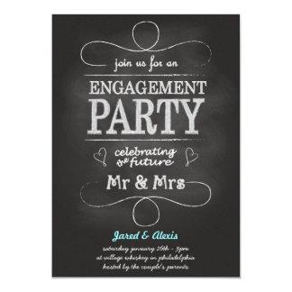 Invitation de partie de fiançailles de tableau