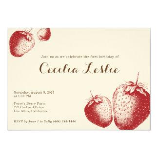 Invitation de partie de fraise