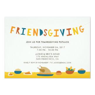 Invitation de partie de Friendsgiving