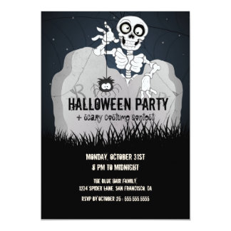 Invitation de partie de Halloween