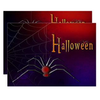 Invitation de partie de Halloween - araignée