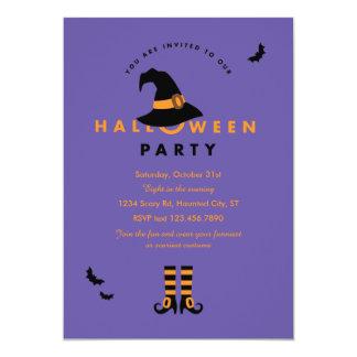 Invitation de partie de Halloween de casquette de