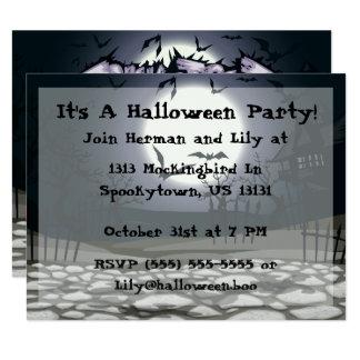 Invitation de partie de Halloween de des bonbons