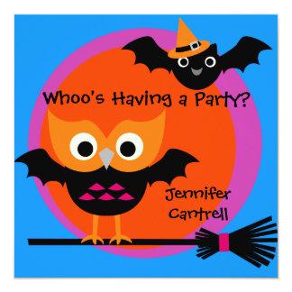 Invitation de partie de Halloween de huée de