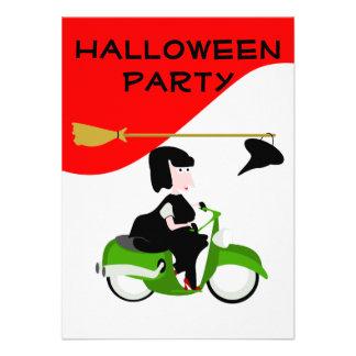 Invitation de partie de Halloween de vélomoteur