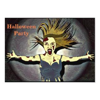 Invitation de partie de Halloween de zombi