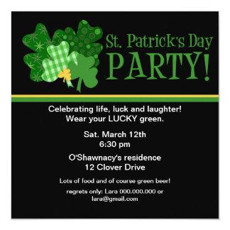 Invitation de partie de jour de St Patrick d'or de