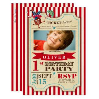 Invitation de partie de l'anniversaire   de billet