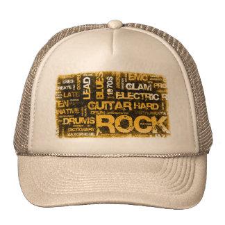 Invitation de partie de musique rock comme art casquette