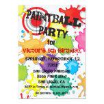Invitation de partie de Paintball Carton D'invitation 12,7 Cm X 17,78 Cm