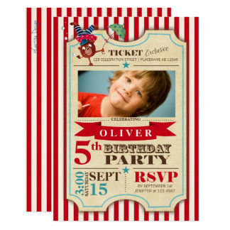 Invitation de partie de photo de l'anniversaire |