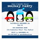 Invitation de partie de pingouins d'hiver
