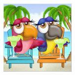 Invitation de partie de plage de perroquet - SRF