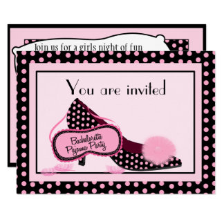 Invitation de partie de pyjama de Bachelorette