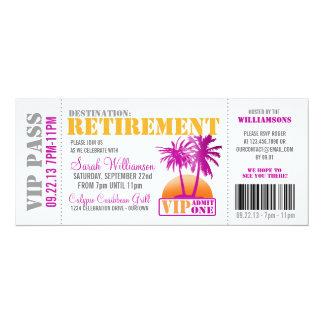 Invitation de partie de retraite de carte carton d'invitation  10,16 cm x 23,49 cm
