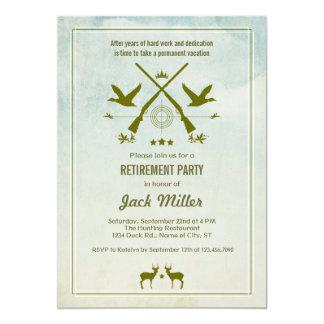 Invitation de partie de retraite de chasse
