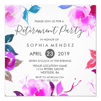 Top Invitations & Faire-part Retraite personnalisés | Zazzle.fr HC65