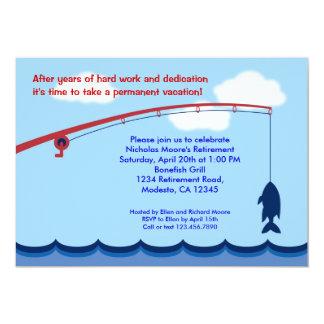 Invitation de partie de retraite de pêche carton d'invitation  12,7 cm x 17,78 cm
