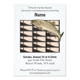 Invitation de partie de retraite de pêcheur