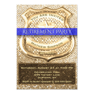 Invitation de partie de retraite de policier