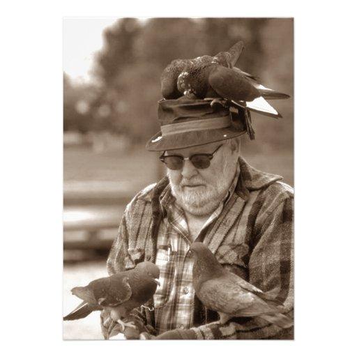 Invitation de partie de retraite d'homme de percho