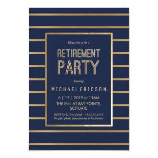 Invitation de partie de retraite - personnaliser,