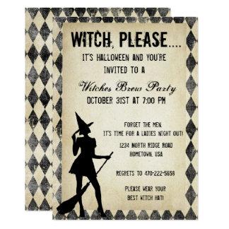 Invitation de partie de sorcière de Halloween
