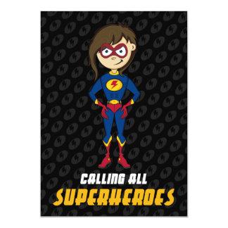 Invitation de partie de super héros