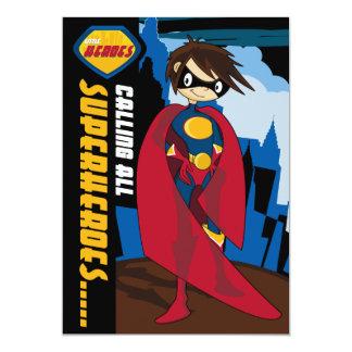 Invitation de partie de super héros carton d'invitation  12,7 cm x 17,78 cm