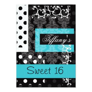 Invitation de partie de sweet sixteen