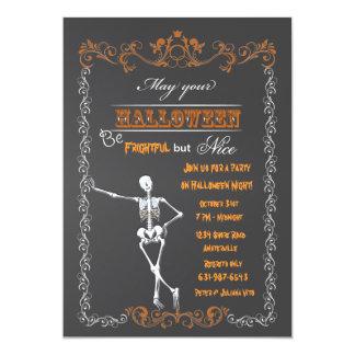 Invitation de partie de tableau de Halloween