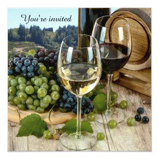 Invitation de partie de thème de vin de vignoble