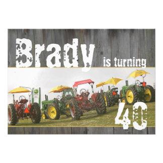 Invitation de partie de tracteur : Bois et tracteu
