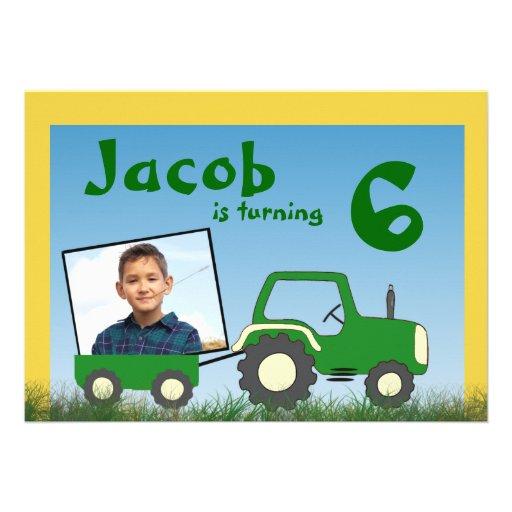 Invitation de partie de tracteur : Photo dans le c